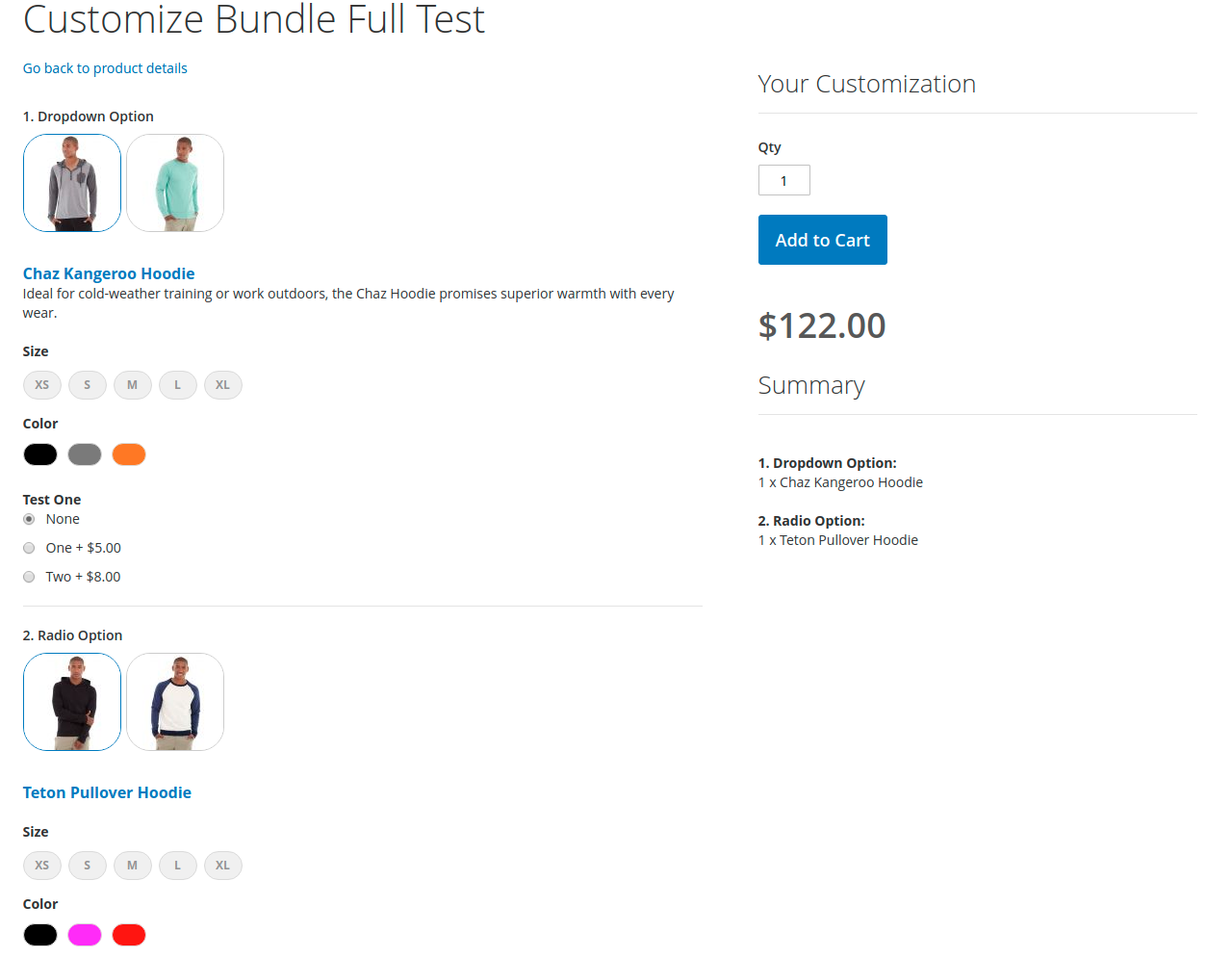 Configurable Bundle in the frontend