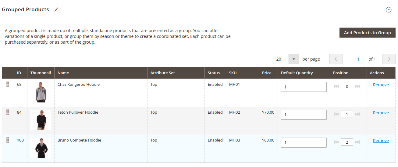Configuring Configurable Grouped Products in the Magento Backend