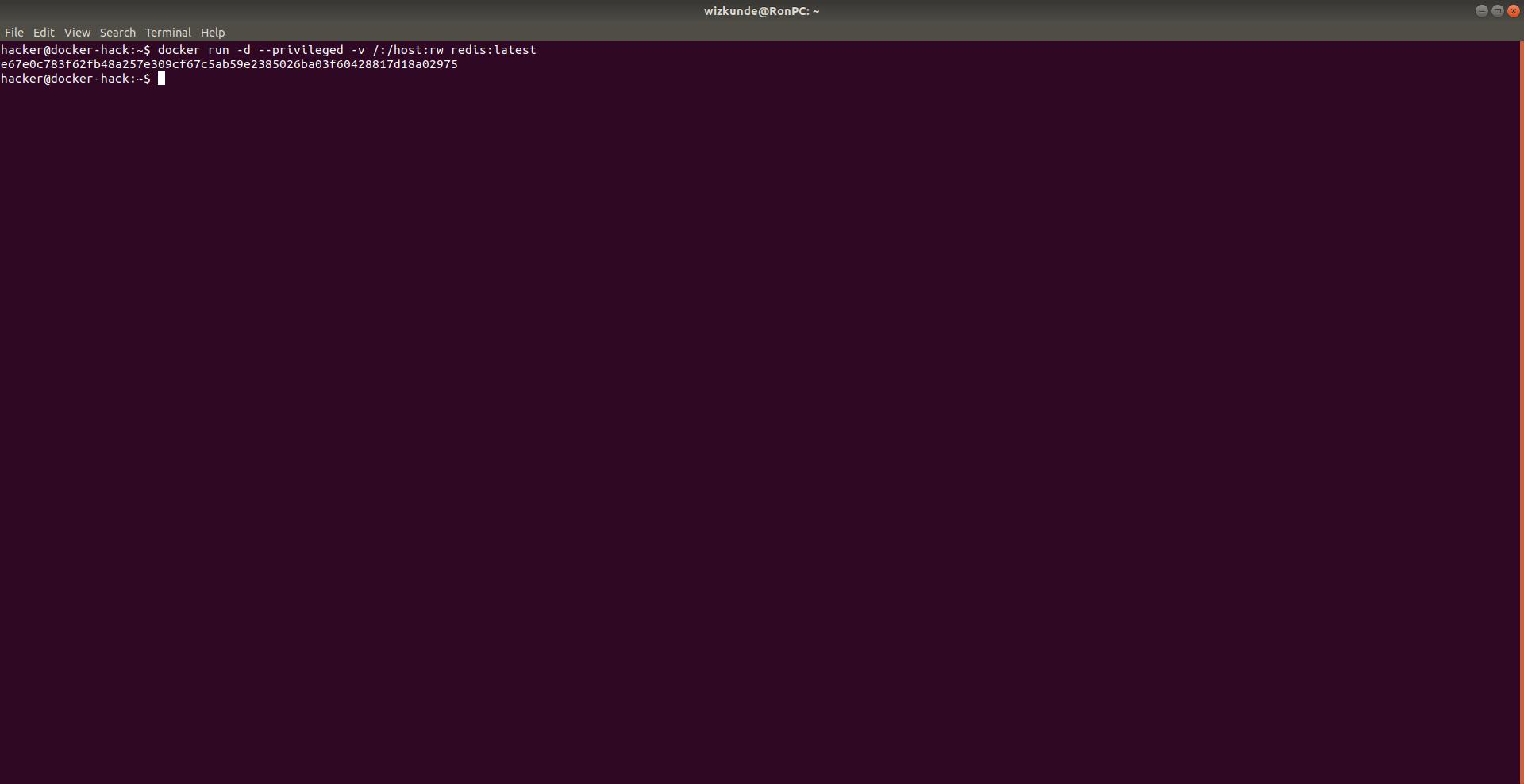 Docker Hacking Start